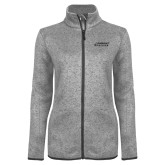 Grey Heather Ladies Fleece Jacket-Dassault Falcon