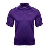 Purple Textured Saddle Shoulder Polo-Dassault Falcon