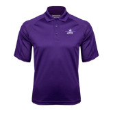 Purple Textured Saddle Shoulder Polo-Twinjet Craft Stacked - Falcon 2000