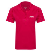Ladies Pink Raspberry Dry Mesh Pro Polo-Dassault Falcon