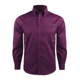 Red House Deep Purple Herringbone Long Sleeve Shirt-Dassault Falcon