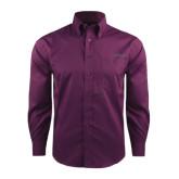 Red House Deep Purple Herringbone Long Sleeve Shirt-Dassault Falcon