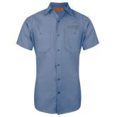 Red Kap Postman Blue Short Sleeve Industrial Work Shirt-Dassault Falcon