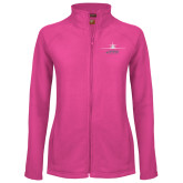 Ladies Fleece Full Zip Raspberry Jacket-Trijet Craft Stacked - Falcon 900, Falcon 900EX, Falcon 50EX