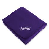 Purple Arctic Fleece Blanket-Dassault Falcon
