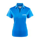Ladies Light Blue Performance Fine Jacquard Polo-Dassault Falcon
