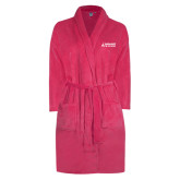 Ladies Pink Raspberry Plush Microfleece Shawl Collar Robe-Dassault Falcon