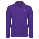 Fleece Full Zip Purple Jacket-Falcon 7X Craft