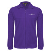 Fleece Full Zip Purple Jacket-Falcon 8X Craft