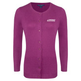 Ladies Deep Berry Cardigan-Dassault Falcon