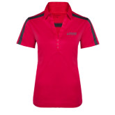 Ladies Raspberry/Charcoal Performance Color Block Polo-Dassault Falcon