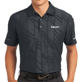 Nike Dri Fit Black Embossed Polo-Falcon 6X