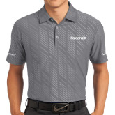 Nike Dri Fit Charcoal Embossed Polo-Falcon 6X