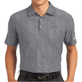 Nike Dri Fit Charcoal Embossed Polo-Dassault Aviation