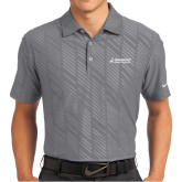 Nike Dri Fit Charcoal Embossed Polo-Dassault Aircraft Services