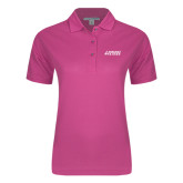 Ladies Easycare Tropical Pink Pique Polo-Dassault Falcon