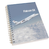 Clear 7 x 10 Spiral Journal Notebook-Falcon 5X Over Clouds