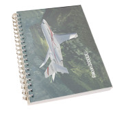 Clear 7 x 10 Spiral Journal Notebook-Falcon 2000LXS Over Green Mountain