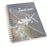 Clear 7 x 10 Spiral Journal Notebook-Falcon 2000S Over Snowy Mountain