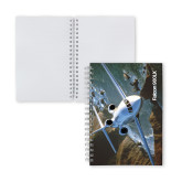 Clear 7 x 10 Spiral Journal Notebook-Falcon 900LX Coastal