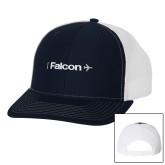 Richardson Navy/White Trucker Hat-Falcon