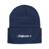 Steel Blue Knit Beanie w/Cuff-Falcon