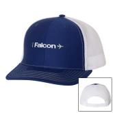 Richardson Royal/White Trucker Hat-Falcon