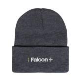 Grey Knit Beanie w/Cuff-Falcon