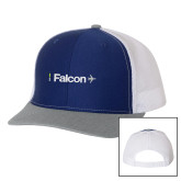 Richardson Royal/White/Heather Trucker Hat-Falcon