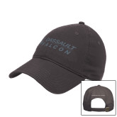 Charcoal Twill Unstructured Low Profile Hat-Dassault Falcon
