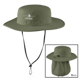 Olive Outdoor Wide Brim Hat-