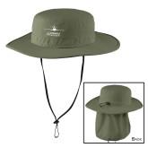 Olive Outdoor Wide Brim Hat-