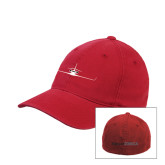 Red Flexfit Structured Low Profile Hat-Falcon 2000LX Craft