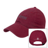 Maroon Twill Unstructured Low Profile Hat-Dassault Falcon