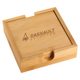 Bamboo Coaster Set-Dassault Aviation Engraved