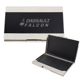 Bey Berk Carbon Fiber Business Card Holder-Dassault Falcon Engraved
