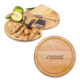10.2 Inch Circo Cheese Board Set-Dassault Aviation Engraved