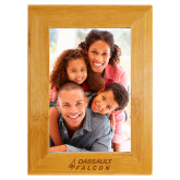 Bamboo 4 x 6 Photo Frame-Dassault Falcon Engraved