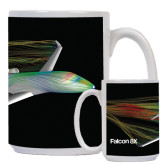 Full Color White Mug 15oz-Falcon 8X Color Computer Illustration