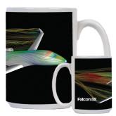 Full Color White Mug 15oz-Falcon 8X Color Computer Illustration