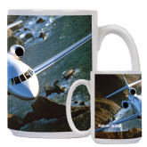 Full Color White Mug 15oz-Falcon 900LX Coastal