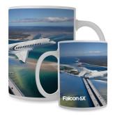 Full Color White Mug 15oz-Falcon 6X In Air