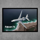 Full Color Indoor Floor Mat-Falcon 7X Over Beach