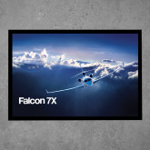 Full Color Indoor Floor Mat-Falcon 7X Over Mountains