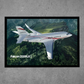 Full Color Indoor Floor Mat-Falcon 2000LXS Over Green Mountain