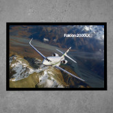Full Color Indoor Floor Mat-Falcon 2000S Over Snowy Mountain