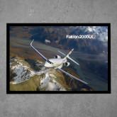 Full Color Indoor Floor Mat-Falcon 2000S Over Snowy Mountain