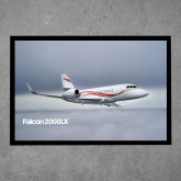 Full Color Indoor Floor Mat-Falcon 2000LX Silver Lining