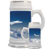 Full Color Decorative Ceramic Mug 22oz-Falcon 5X Over Clouds