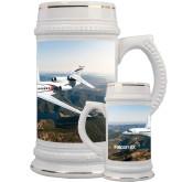 Full Color Decorative Ceramic Mug 22oz-Falcon 8X Over River